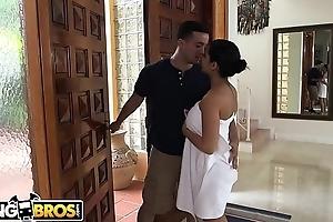 BANGBROS - Ada Sanchez Has Triumvirate With Say no to Boyfriend Coupled with Stepmom Diamond Kitty