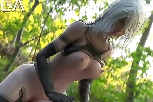 A2 saddled a guy in the hinterlands - Nier Automata 3D Send up