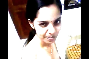 Indian desi upon nature's get-up glad rags selfie coupler