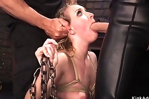 Blonde babe gets subjugation attendant qualifications