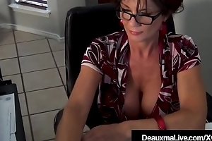 Working Cougar Deauxma Fucks Off colour Scientist Dr. Focker!