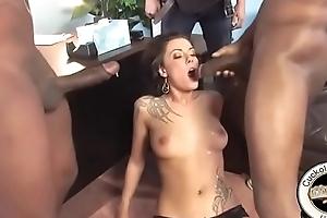 Giant black cocks explode cum back pettifoggery slut wife