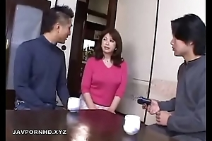 Japanese Mom in bathroom fucked by Son cock