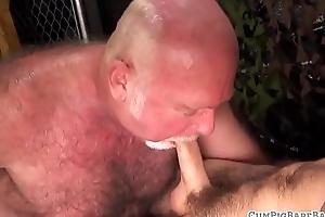 Facialized polar observe sucking heavy cock