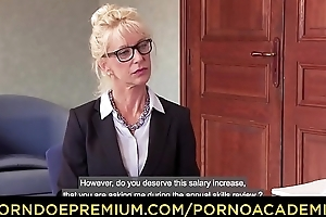 PORNO ACADEMIE –_ Squirting DP dealings be expeditious for flaxen-haired omnibus