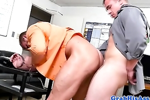 Office big wheel assfucking hunky worker