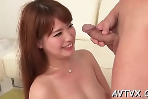 Thrilling japanese delights roughly network cock riding
