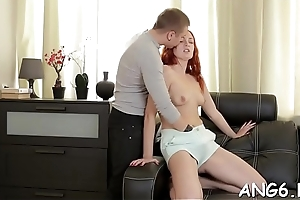 Fellow is driving babe insane with his vehement licking
