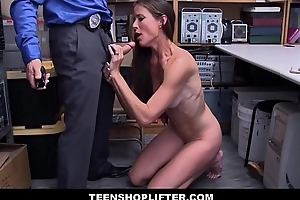 X-rated Broad-shouldered Body MILF Sofie Marie Caught Shoplifting Fucked By Security Officer