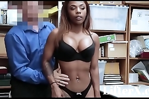 EBONY TEEN SARAH BANKS FUCKED FOR STEALING- LifterX.com