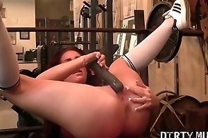 Fitness Porn Star Can'_t Escape Will not hear of Hands Off Herself