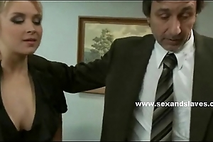 Busty roused blond with superb s&m lovemaking