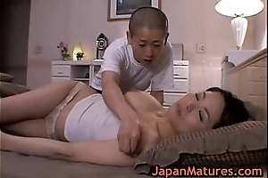Of age bigtit miki sato masturbating exposed to couch two by japa
