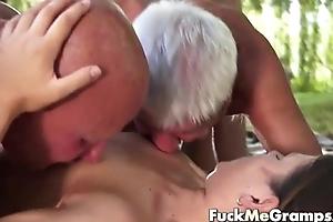 Jenny engulfing 2 real old jocks