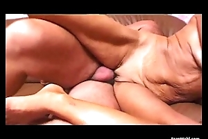 Sexy golden-haired granny likes hard assassinate