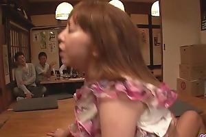 Minami kitagawa foursome crumbs in an oriental cum facial