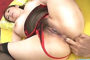 Hot hottie in nylons screwed in her hirsute bawdy cleft