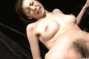 Slutty natsumi lies down widens her hooves and is toyed