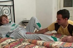 Injured grandma receives healed by juvenile pecker