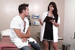 Sexy dark haired doctor likes fucking their way patients