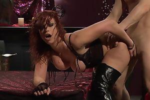 Passionate redhead slut in high tweeny gets fucked hard