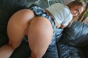 Pulchritudinous schoolgirl with perky confidential buried her anal purity